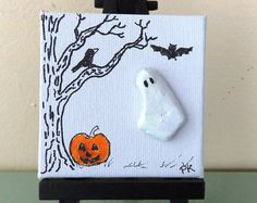 Miniature Original Pebble Art Picture BIRD от LakeshorePebbleArt