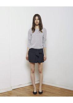 Isabel Marant Étoile / Felix Stripe Long Sleeve Isabel Marant Étoile / Jodi Miniskirt  Isabel Marant / Plumy Denim Flat
