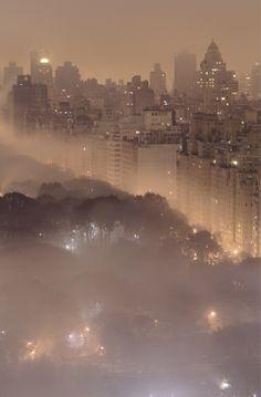 NYC Fog #fog #weather #clouds #New York