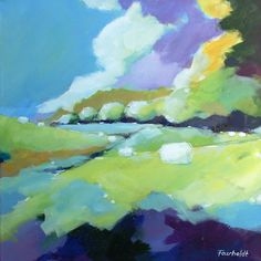 Landscape by me :) Tine Faurholdt, Denmark 60 x 60 cm - 2015