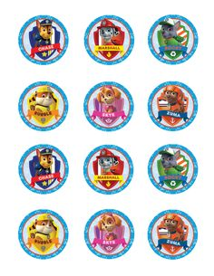 files.custompartyprints.com Downloads Branded Birthday Paw-Patrol Cupcake-Topper CPP543126 Product CPP543126-Cupcake-Topper-Darkpaw.jpg