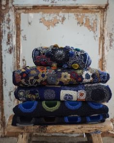 New Sophie Digard collection in a very different colour way for us.. Love these dark hues in wool for the coming Winter! Available in store and online.