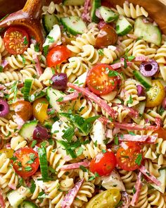 10 easy vacation meals to feed a crowd kitchn pasta salad ingredients, easy Pasta Salad Ingredients, Easy Pasta Salad Recipe, Kid Pasta Salad, Easy Healthy Pasta Recipes, Best Pasta Salad, Caprese Pasta, Crab Salad, Noodle Salad, Cucumber Salad