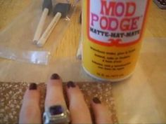 How to make photo Frames out of tiles and modge podge for under $5 each!