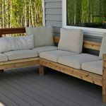 Free plans - outdoor sofa sectional. Only couple hundred dollars to complete.