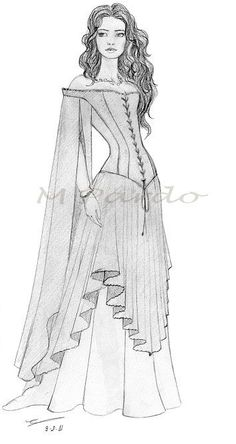 Ideas Fashion Sketches Dresses Gowns Costume Design Source by fashion drawing Dress Sketches, Fashion Sketches, Fashion Drawings, Moda Medieval, Illustration Mode, Illustrations, Dress Drawing, Drawing Drawing, Drawing Reference
