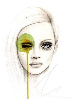 One of my favorite Illustrations based on Francelle Daly's Make-up for I-d Mag.