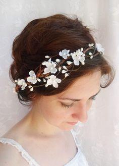 white bridal flower crown 99
