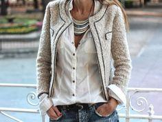 veste Chanel DIY (modèle libre inclus).  Veste de couture et Blazer.