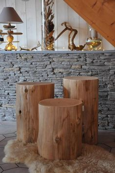 Set of 3 Tables tree trunk wood side table stool log end table tree stump table bedside table coffee table Natural Wood Table, Wood, Trunk Table, Trunk Side Table, Side Table, Wood Bedside Table, Tree Trunk Table, Side Table Wood, Wood Table