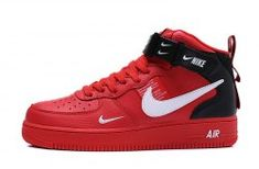 23e194ad492a Nike Air Force 1 High Retro  07 Red Black White Men s Women s Sneakers Shoes