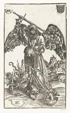 The Archangel Michael Weighing a Soul Artist: Lucas Cranach the Elder (German, Kronach 1472–1553 Weimar) Date: 1506 Medium: Woodblock; first state of two Dimensions: Sheet: 9 13/16 × 5 11/16 in. (24.9 × 14.4 cm) Classification: Prints Credit Line: Harris Brisbane Dick Fund, 1927