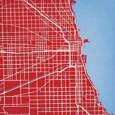 Fab.com | City Prints Chicago Illinois