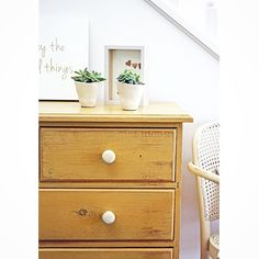 This #vintage chest of drawers is oozing with character in #anniesloanchalkpaint Arles {$315} #furniturerestoration #restoredfurniture #paintedfurniture #chestofdrawers #ascp #brisbane #womenwhodiy #qld #sustainable #styling #yellow