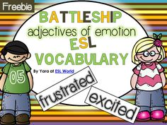 Most Popular Teaching Resources: Free Battleship Game {adjectives of emotions} for ...