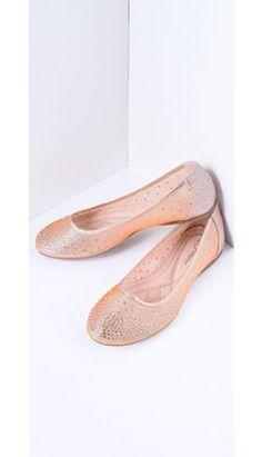b46a29320c7 Champagne Pink Sparkle Ballet Flats Office Essentials