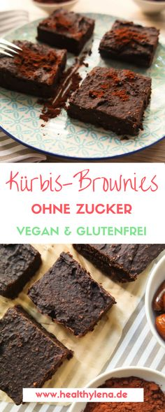 Habt ihr schon genug vom Kürbis? Ich jedenfalls nicht! Diese veganen Kürbis-Brownies beweisen, dass es einfach nicht genug Kürbisrezepte geben kann. Heute wird es süß und schokoladig. Und so viel sei schon mal verraten: diese Kürbis-Brownies haben das Zeug dazu, zu meinem neuen Lieblingsdessert zu werden: vegan, glutenfrei & fettarm!