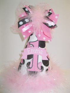 Personalized Pink Minnie Mouse Birthday Party Hat by DoodlesDotsnDimples, $13.49 https://www.etsy.com/shop/DoodlesDotsnDimples