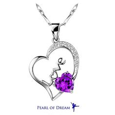 Love in Heart Sterling Silver Pendant Necklace -- $59