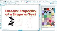 Silhouette Studio transfer properties tool tutorial