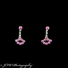Vintage Drop Pink Earrings #classy #sparkle #pink #jewelry #earrings #vintage #photography #jfwphotography