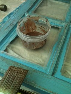Old Stuff- Wood Window Pane To Distressed Picture Frame