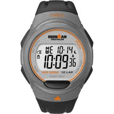 Shop for Timex Men's Ironman Traditional Black/ Orange Watch. Get free delivery On EVERYTHING* Overstock - Your Online Watches Store! Ironman Triathlon Watch, Cool Watches, Watches For Men, Sporty Watch, Discount Watches, Timex Watches, E 10, Digital Watch, Iron Man