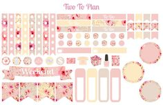 Watercolor Floral Small Weekly Kit! Planner Stickers, Perfect for the Erin…