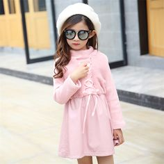 >> Click to Buy << Fake Fur girl's Winter Dress 2016 New Fashion Thick Girl Dress PU Leather Dress for Girl Long Sleeve Lace Collar Child Clothing #Affiliate