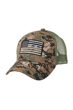 fcb690fafec The perfect US American Flag Patch Tactical Style Mesh Trucker Baseball Cap  Hat.   10.69