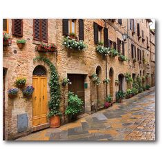 Courtside Market Tuscan Village I Canvas (49 AUD) ❤ liked on Polyvore featuring home, home decor and wall art
