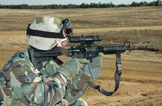 Could You Pass the New Air Force Shooting Qualification?      USAF TACP with M4 (courtesy http://www.flickr.com/photos/rcsadvmedia/5554389421/)