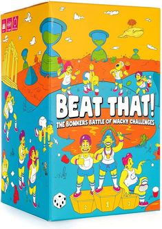 Fun board games for camp care packages: Beat That! is fully of wacky games for the whole bunk to play outdoors during free time. #summercamp #parentingtips #groupgames #gamesforkids #giftsforkids #familygamenight Family Party Games, Kids Party Games, Family Game Night, Cool Gifts For Kids, Fun Games For Kids, Camp Care Packages, Baby Feeding Pillow, Paper Balls, Fun Board Games