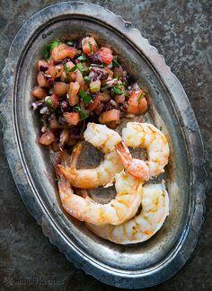 Grilled Shrimp with Italian Tomato Salsa Recipe | Simply Recipes