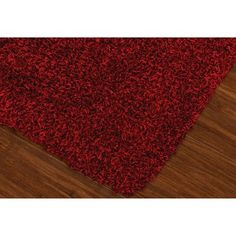 Lustrous Shoestring Shag Area Rug - Red (9'x13')