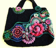 ABruxinhaCoisasGirasdaCarmita: Mala de crochet