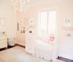 Pink and White Vintage Parisian Nursery - Project Nursery