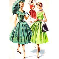 AdoreVintage.com - The Look Book - Vintage 1950s Dress Patterns and Illustrations
