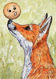 Современная иллюстрация к сказке《Колобок》