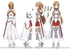 How to Make a Cosplay Costume for Asuna Yuuki from Sword Art Online. For those of you who have been wracking out your brains and desperately wanting to recreate the costume of Asuna from the Sword Art Online anime (SAO) this how to guide -. Sword Art Online Asuna, Cosplay Sword Art Online, Asuna Cosplay, Cosplay Anime, Cosplay Diy, Cosplay Ideas, Cosplay 2016, Cosplay Armor, Kirito Asuna