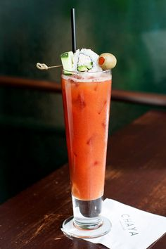 Louie's Spicy Bloody Mary - a secret mix made with Stoli Vodka, wasabi ...