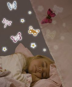 Take a look at this Glow-in-the-Dark Butterfly Wall Decal Set by WallPops! on #zulily today!