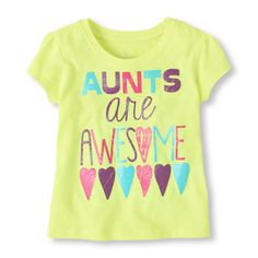 -Your awesome girl will love this awesome aunt graphic tee!