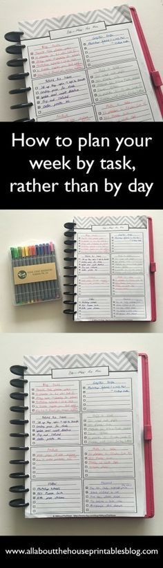 how to plan your week by task rather than by day 52 planners in 52 weeks a different take on bullet journaling free planner printable to do list http://www.allaboutthehouseprintablesblog.com/planning-by-category-and-task-rather-than-by-day-52-planners-in-52-weeks-week-5/