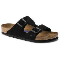 1e19e17aa983 Arizona Suede Leather Black in 6-6.5 (37) narrow Black Birkenstock