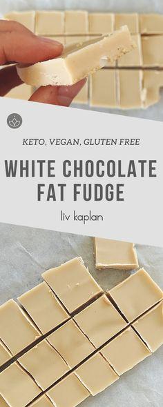 Keto, Vegan, Sugar-Free White Chocolate Fat Fudge Recipe - YUM!