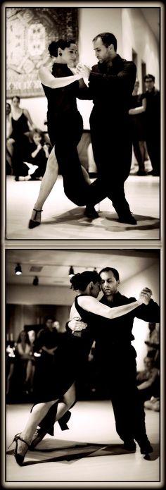 'Ocho' and 'gancho', argentine tango steps. ♥