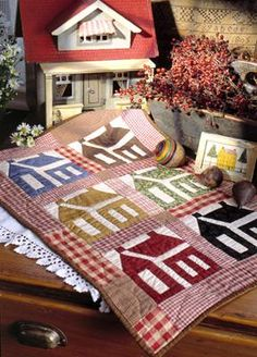 Friendship Houses=this is the exact one I also want to make--have the pattern, fabric and it all!!!!!!!!