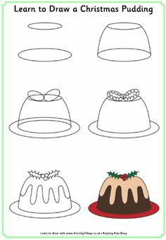 Drawing Tutorials For Kids, Art Drawings For Kids, Art Drawings Sketches Simple, Doodle Drawings, Drawing For Kids, Doodle Art, Easy Drawings, Card Sketches, Easy Christmas Drawings
