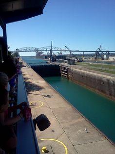 Soo Locks, Sault Ste. Marie, Michigan, USA.